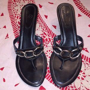 Cole Haan Black & Chain Sandal 9.5 Like New!